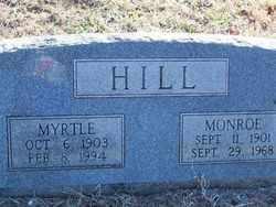 HILL, MONROE - Pontotoc County, Oklahoma | MONROE HILL - Oklahoma Gravestone Photos