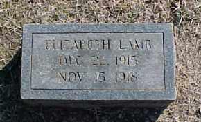 LAMB, ELIZABETH - Pontotoc County, Oklahoma | ELIZABETH LAMB - Oklahoma Gravestone Photos