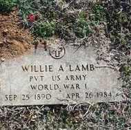 LAMB, WILLIE A. - Pontotoc County, Oklahoma | WILLIE A. LAMB - Oklahoma Gravestone Photos