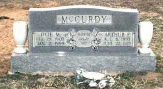 MCCURDY, ARTHUR FRANKLIN - Pontotoc County, Oklahoma | ARTHUR FRANKLIN MCCURDY - Oklahoma Gravestone Photos