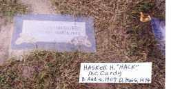 MCCURDY, HASKELL HOMER - Pontotoc County, Oklahoma | HASKELL HOMER MCCURDY - Oklahoma Gravestone Photos
