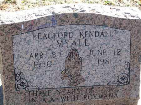MYALL, BEAUFORD KENDALL - Pontotoc County, Oklahoma | BEAUFORD KENDALL MYALL - Oklahoma Gravestone Photos