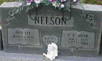 NELSON, D.V. MONK - Pontotoc County, Oklahoma | D.V. MONK NELSON - Oklahoma Gravestone Photos