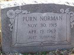 NORMAN, PURN - Pontotoc County, Oklahoma   PURN NORMAN - Oklahoma Gravestone Photos
