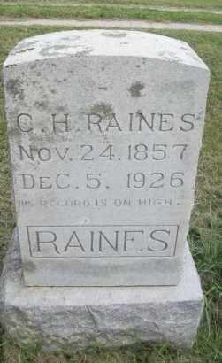 RAINES, C.H. - Pontotoc County, Oklahoma | C.H. RAINES - Oklahoma Gravestone Photos