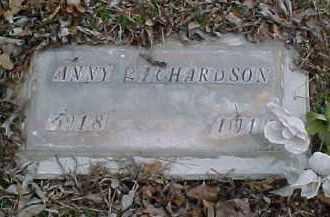 RICHARDSON, ANNY - Pontotoc County, Oklahoma   ANNY RICHARDSON - Oklahoma Gravestone Photos