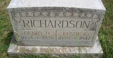 RICHARDSON, HENRY D. - Pontotoc County, Oklahoma | HENRY D. RICHARDSON - Oklahoma Gravestone Photos