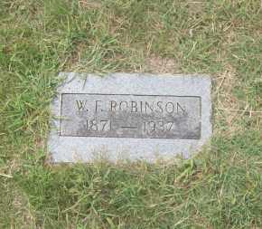 ROBINSON, W.F. - Pontotoc County, Oklahoma | W.F. ROBINSON - Oklahoma Gravestone Photos