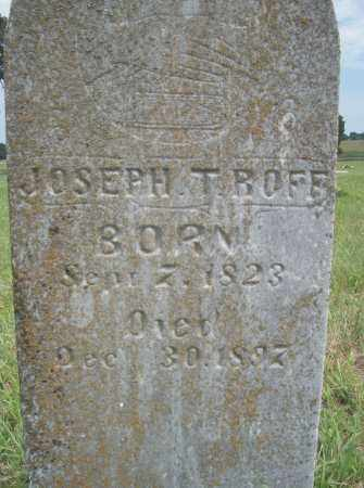 ROFF, JOSEPH T. - Pontotoc County, Oklahoma | JOSEPH T. ROFF - Oklahoma Gravestone Photos