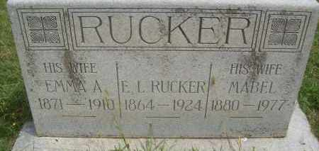 RUCKER, E.L. - Pontotoc County, Oklahoma   E.L. RUCKER - Oklahoma Gravestone Photos