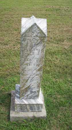 SHAW, WILLIAM R. - Pontotoc County, Oklahoma | WILLIAM R. SHAW - Oklahoma Gravestone Photos