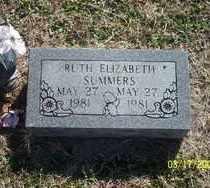 SUMMERS, RUTH ELIZABETH - Pontotoc County, Oklahoma   RUTH ELIZABETH SUMMERS - Oklahoma Gravestone Photos