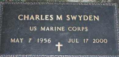 SWYDEN, CHARLES M.  US MARINE - Pontotoc County, Oklahoma   CHARLES M.  US MARINE SWYDEN - Oklahoma Gravestone Photos