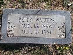 WALTERS, BETTY - Pontotoc County, Oklahoma | BETTY WALTERS - Oklahoma Gravestone Photos