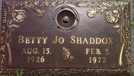 SMITH SHADDOX, BETTY JO - Pottawatomie County, Oklahoma   BETTY JO SMITH SHADDOX - Oklahoma Gravestone Photos