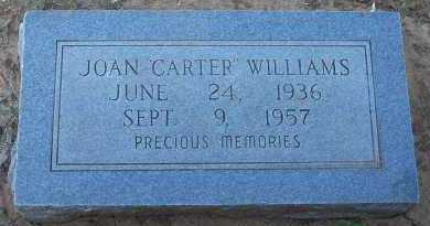 CARTER WILLIAMS, JOAN - Pottawatomie County, Oklahoma | JOAN CARTER WILLIAMS - Oklahoma Gravestone Photos