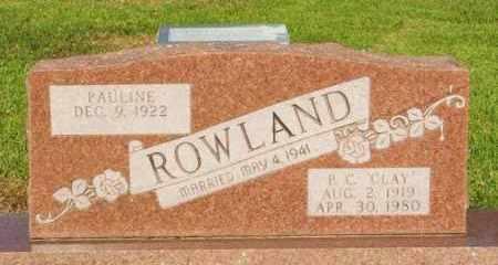 ROWLAND, P C  PHILEMON CLAY - Pushmataha County, Oklahoma | P C  PHILEMON CLAY ROWLAND - Oklahoma Gravestone Photos