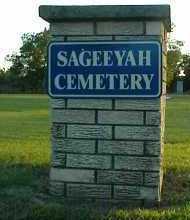 *.*, SAGEEYAH CEMETERY SIGN - Rogers County, Oklahoma   SAGEEYAH CEMETERY SIGN *.* - Oklahoma Gravestone Photos