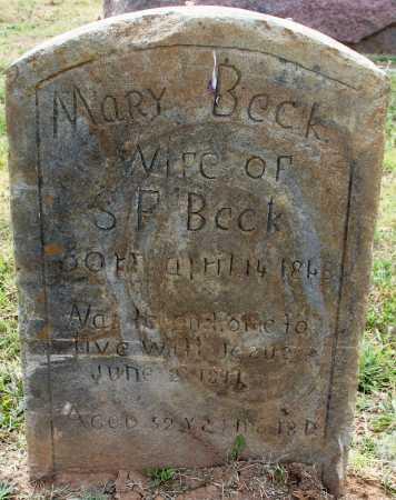 BECK, MARY - Rogers County, Oklahoma | MARY BECK - Oklahoma Gravestone Photos