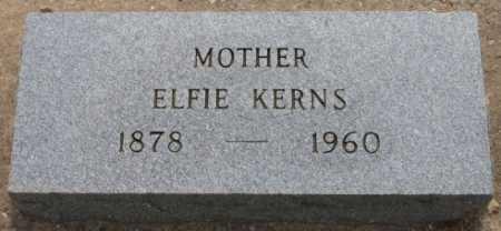KERNS, ELFIE - Rogers County, Oklahoma   ELFIE KERNS - Oklahoma Gravestone Photos