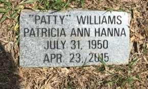 "HANNA WILLIAMS, PATRICIA ANN ""PATTY"" - Rogers County, Oklahoma | PATRICIA ANN ""PATTY"" HANNA WILLIAMS - Oklahoma Gravestone Photos"