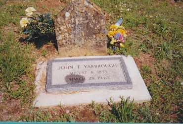 YARBROUGH, JOHN THOMAS - Seminole County, Oklahoma | JOHN THOMAS YARBROUGH - Oklahoma Gravestone Photos