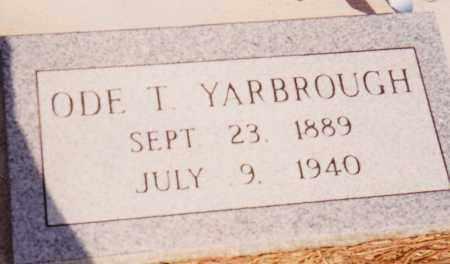 YARBROUGH, ODE THOMAS - Seminole County, Oklahoma   ODE THOMAS YARBROUGH - Oklahoma Gravestone Photos