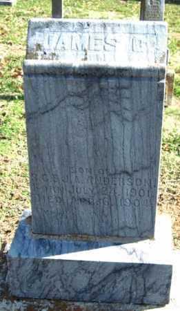 ANDERSON, JAMES C - Sequoyah County, Oklahoma | JAMES C ANDERSON - Oklahoma Gravestone Photos