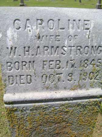 ARMSTRONG, CAROLINE - Sequoyah County, Oklahoma | CAROLINE ARMSTRONG - Oklahoma Gravestone Photos