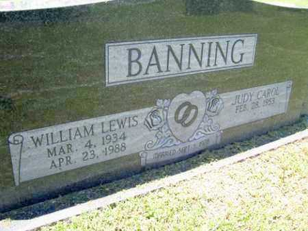 BANNING, WILLIAM LEWIS - Sequoyah County, Oklahoma | WILLIAM LEWIS BANNING - Oklahoma Gravestone Photos