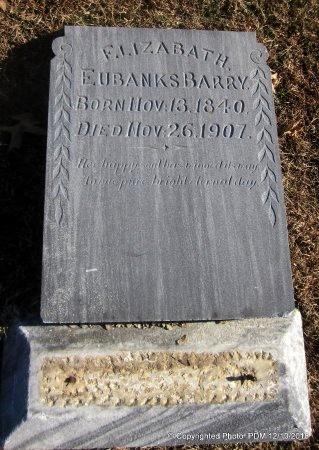 BARRY, ELIZABATH - Sequoyah County, Oklahoma | ELIZABATH BARRY - Oklahoma Gravestone Photos