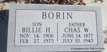 BORIN, BILLIE HOWARD - Sequoyah County, Oklahoma | BILLIE HOWARD BORIN - Oklahoma Gravestone Photos