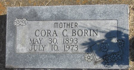 BORIN, CORA C - Sequoyah County, Oklahoma   CORA C BORIN - Oklahoma Gravestone Photos