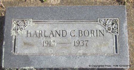 BORIN, HARLAND C - Sequoyah County, Oklahoma | HARLAND C BORIN - Oklahoma Gravestone Photos