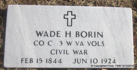BORIN, WADE H  (VETERAN UNION) - Sequoyah County, Oklahoma | WADE H  (VETERAN UNION) BORIN - Oklahoma Gravestone Photos