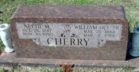 CHERRY, WILLIAM OCE, SR - Sequoyah County, Oklahoma | WILLIAM OCE, SR CHERRY - Oklahoma Gravestone Photos