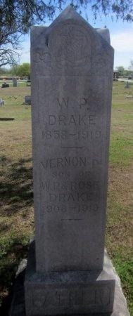 DRAKE, VERNON P - Sequoyah County, Oklahoma | VERNON P DRAKE - Oklahoma Gravestone Photos