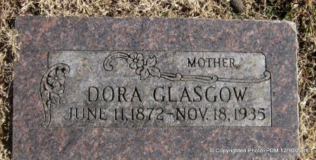 GLASGOW, DORA MCDONALD - Sequoyah County, Oklahoma | DORA MCDONALD GLASGOW - Oklahoma Gravestone Photos