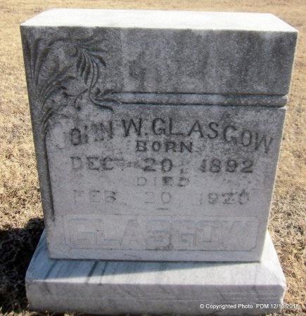 GLASGOW, JOHN W - Sequoyah County, Oklahoma | JOHN W GLASGOW - Oklahoma Gravestone Photos