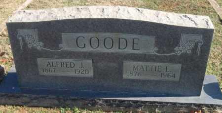 GOODE, ALFRED J - Sequoyah County, Oklahoma | ALFRED J GOODE - Oklahoma Gravestone Photos
