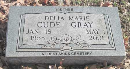 CUDE GRAY, DELIA MARIE - Sequoyah County, Oklahoma | DELIA MARIE CUDE GRAY - Oklahoma Gravestone Photos