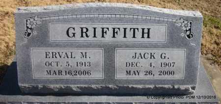 GRIFFITH, ERVAL M - Sequoyah County, Oklahoma | ERVAL M GRIFFITH - Oklahoma Gravestone Photos