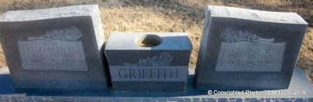 GRIFFITH, GEORGE W - Sequoyah County, Oklahoma | GEORGE W GRIFFITH - Oklahoma Gravestone Photos