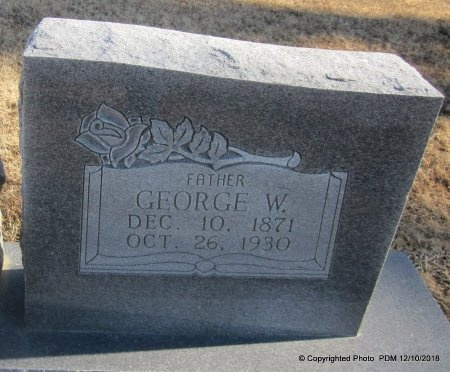 GRIFFITH, GEORGE W  (CLOSEUP) - Sequoyah County, Oklahoma | GEORGE W  (CLOSEUP) GRIFFITH - Oklahoma Gravestone Photos
