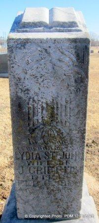 ST JOHN GRIFFITH, LYDIA - Sequoyah County, Oklahoma | LYDIA ST JOHN GRIFFITH - Oklahoma Gravestone Photos