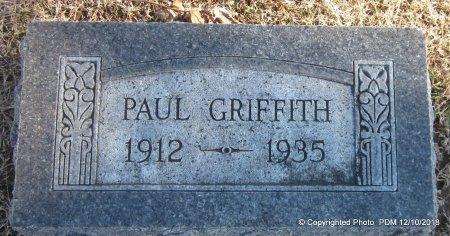 GRIFFITH, PAUL - Sequoyah County, Oklahoma   PAUL GRIFFITH - Oklahoma Gravestone Photos