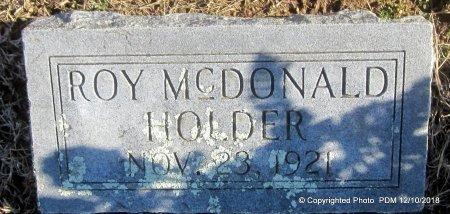 HOLDER, ROY MCDONALD - Sequoyah County, Oklahoma   ROY MCDONALD HOLDER - Oklahoma Gravestone Photos