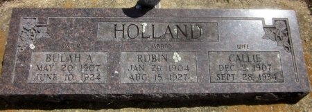 HOLLAND, BULAH A - Sequoyah County, Oklahoma | BULAH A HOLLAND - Oklahoma Gravestone Photos