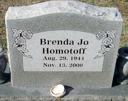 GREEN HOMOTOFF, BRENDA JO - Sequoyah County, Oklahoma | BRENDA JO GREEN HOMOTOFF - Oklahoma Gravestone Photos