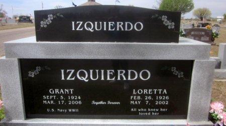 IZQUIERDO, LORETTA - Sequoyah County, Oklahoma | LORETTA IZQUIERDO - Oklahoma Gravestone Photos
